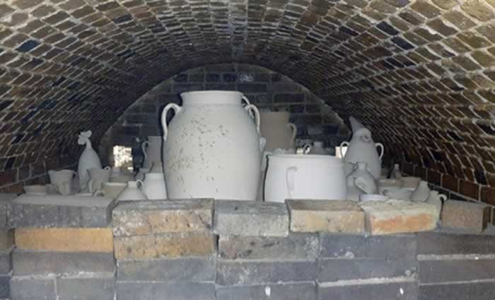 Pottery ready for firing