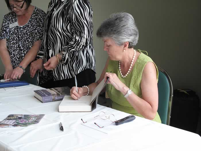2012 book signing by Dorinda G. Dallmeyer